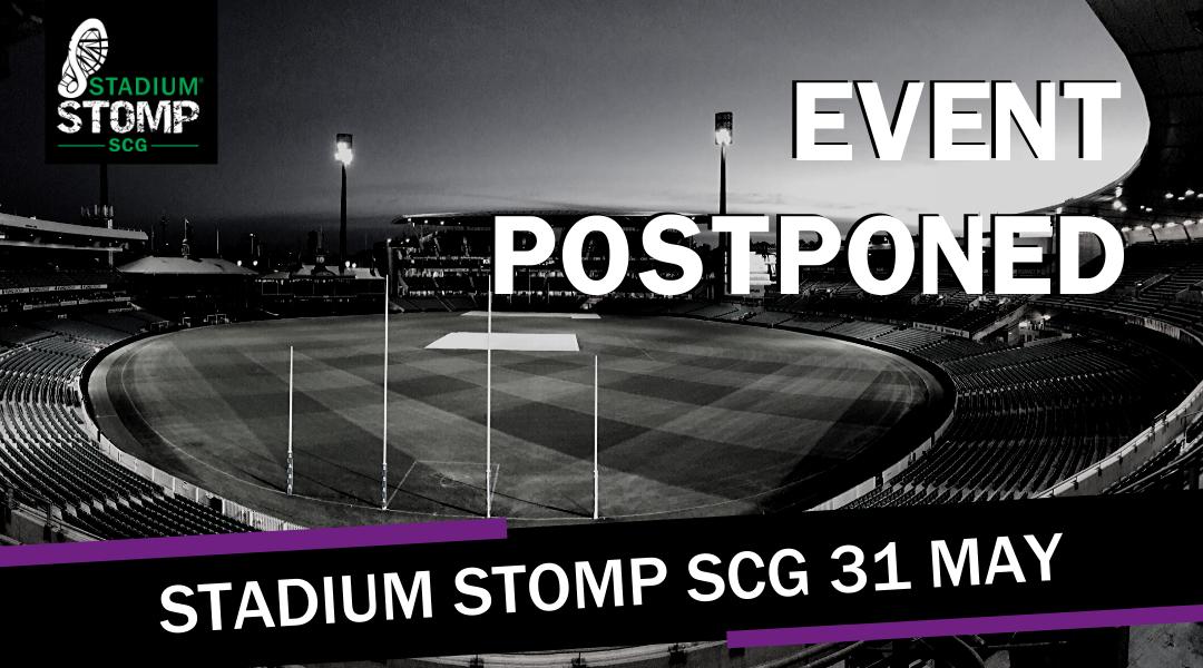 Stadium Stomp SCG Postponed due to COVID-19